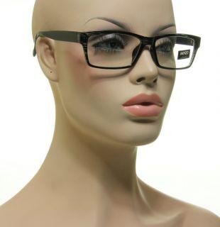 Cool Fashion Nerd Glasses Rectangle Black Clear Frame Lens Eyeglasses
