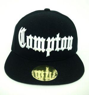 Black Compton Vintage Eazy E NWA Dre Cube Flat Bill Snapback Snap Back