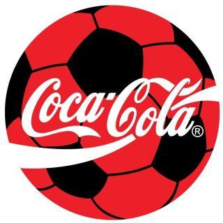 Coca Cola Soccer Ball Sticker Decal 12 Round