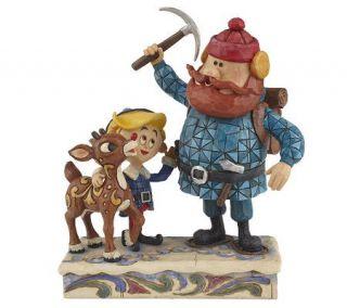Jim Shore Rudolph the Red Nosed Reindeerw/Yukon & Hermey Figure