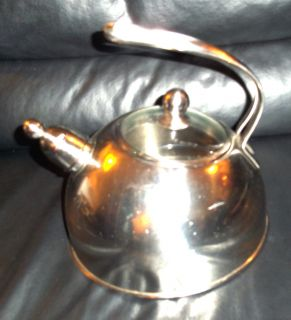 Edelstahl Rostfrei Stainless Steel Whistling Tea Kettle