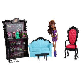 NIB Monster High Coffin Bean Coffee Shop Clawdeen Wolf Doll Playset