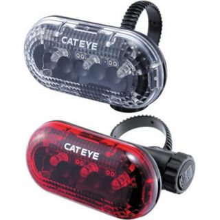 Brand New Boxed Cateye TL LD130 F R Bicycle Bike Light Set Front Rear