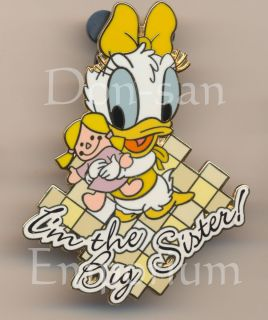 Disney Auctions Baby Daisy Duck Im the Big Sister DA LE 1000 Pin 29320