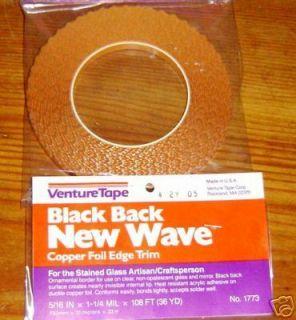 Scalloped Black Back Wavy Edge Copper Foil Tape