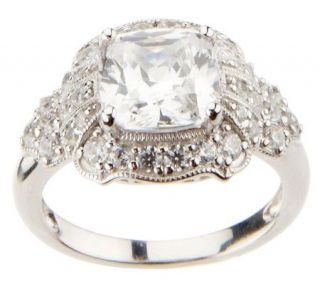 Epiphany Diamonique 3.00 ct tw Cushion Cut Ring —