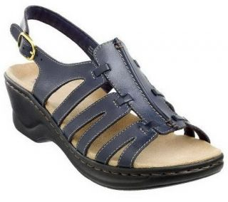 As Is Clarks Bendables Lexi MarigoldLeather Lt. Wt. Sandals