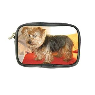pet memorials yorkshire terrier dog leather coin purse wallet bags