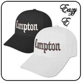New Compton Gangster Baseball Hat Black White Twin Cap