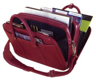 Compucase Ladies Executive Computer Laptop Notebook Case Tote Red $75