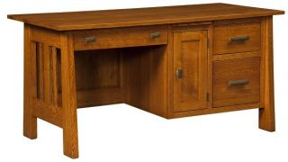 Amish Wooden Computer Desk Small Mission Home Office