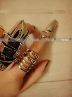 Fashion Popular Punk Cool Finger Nail Snake Design Ring Suitable for