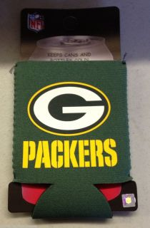 Green Bay Packers Collapsible Can Bottle Holder Koozie NEW NFL
