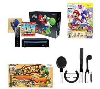 Nintendo Wii Console Bundle w/ 2 Games &Accessories —