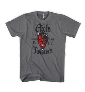Axle Twisters Hot Rod Rat Rod Devil Coop Style Custom Lowbrow T Shirt