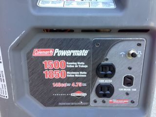 Coleman Powermate 1850 Watt Portable Generator Excellent Condition