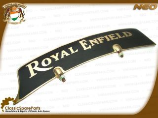 Brand New Solid Brass Front Mudguard Number Plate for Royal Enfield