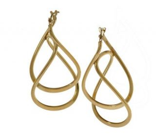 VicenzaGold Twisted Polished Drop Earrings 14K Gold —