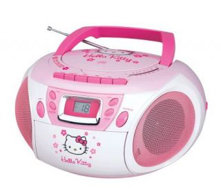 Hello Kitty KT2028A Stereo CD Boombox with Cassette Player   E248829