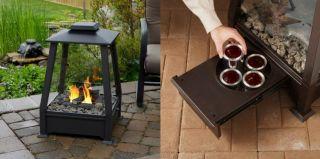 Realflame Sierra Outdoor Gel Fireplace Firepit 2 Colors
