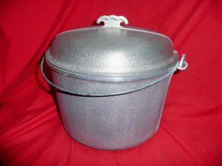 Service Large Stock Pot Metal Lid Kettle Oven Ware Aluminum Cookware