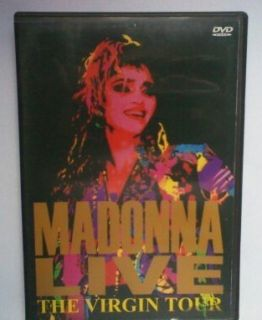 MADONNA LIVE THE VIRGIN TOUR CONCERT DVD VIDEO EXTREMELY RARE