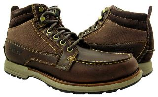 New Sebago Mens Concord Mid Dark Brown Boot Shoes US 8