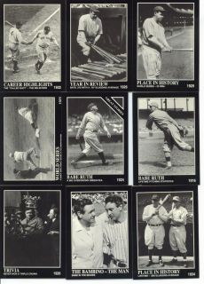 1992 The Sporting News Conlon Collection Cards Babe Ruth Yankees Red