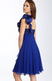 JS Collections Rosette Detail Chiffon Taffeta Dress 8