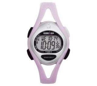 Timex Ladies Ironman Sports Watch   White/PinkBand —