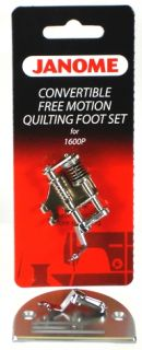 Janome Sewing Machine Convertible Free Motion Quilting Foot Set 1600