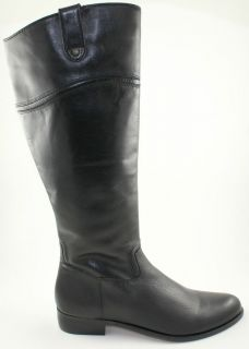 New Corso Como Stamford Womens Black Leather Riding Tall Flat Boot