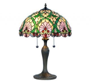Tiffany Style Red Jewels 23 1/4 Table Lamp —