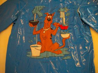 Vintage Scooby Doo Childs Hooded Plastic Raincoat Size 3 Late 70s
