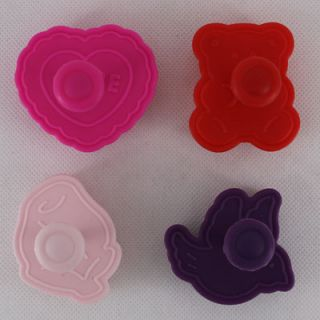 4pcs 1 set Cookie Plunger Cutter Mold Stamp with 4 Different Design