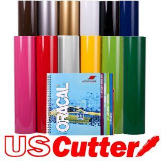 12 Rolls 24x5Y Oracal 651 Sign Vinyl Bundle Calendered film + Guide