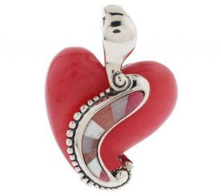 Carolyn Pollack Sterling Life Long Love Heart Enhancer —