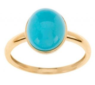 Oval Sleeping Beauty Turquoise Ring 14K Gold   J268335