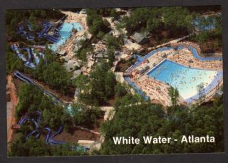 Water Amusement Park Atlanta Georgia Now Six Flags Postcard