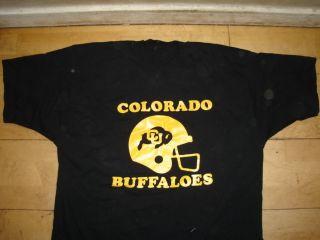 Colorado Buffaloes Football Helmet T Shirt XXL Black