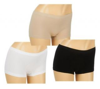 Breezies Set of 3 Ease Boyshorts —
