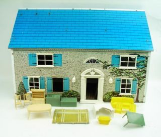 Tall Doll House Masonite Printed Paper Construction Play Toy