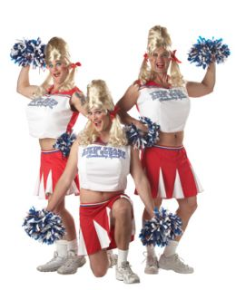 Adult Varsity Cheerleader Mens Halloween Costume