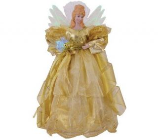16 Gold Fiber Optic Angel Tree Topper by Sterling —