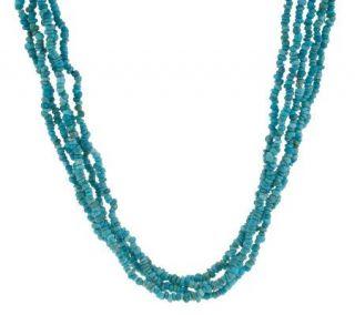 Carolyn Pollack Sterling Turquoise 10 Strand Torsade —