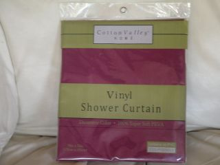 COTTON VALLEY HOME VINYL SHOWER CURTAIN 100% SUPER SOFT PEVA CONTAINS
