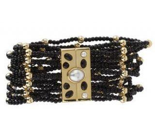 Francesca Viscontis Multi strand Stretch Bead Bracelet —