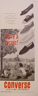 1962 Converse Play Time Womens Tennis Shoes Ad