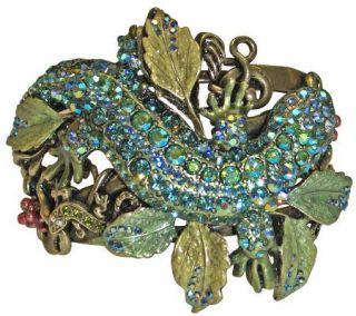 Kirks Folly Leaping Lizard Cuff Bracelet —