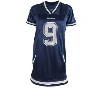 NFL Dallas Cowboys Tony Romo Womens Naomi Jersey Dress —